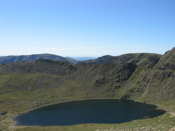 Red Tarn and Striding Edge from Catstycam's summit