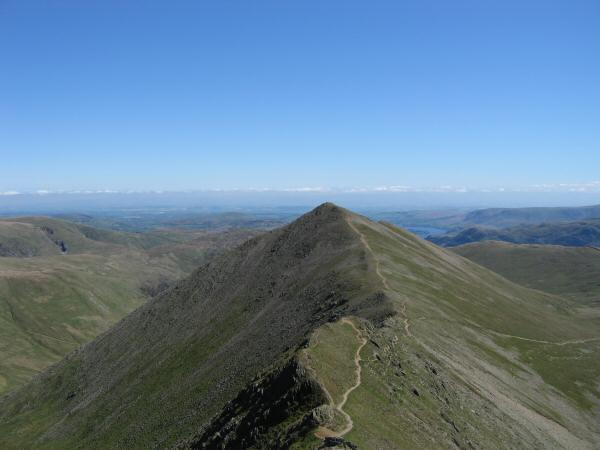 Looking back to Catstycam from our ascent of Swirral Edge