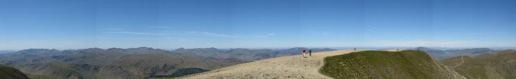 Helvellyn summit panorama