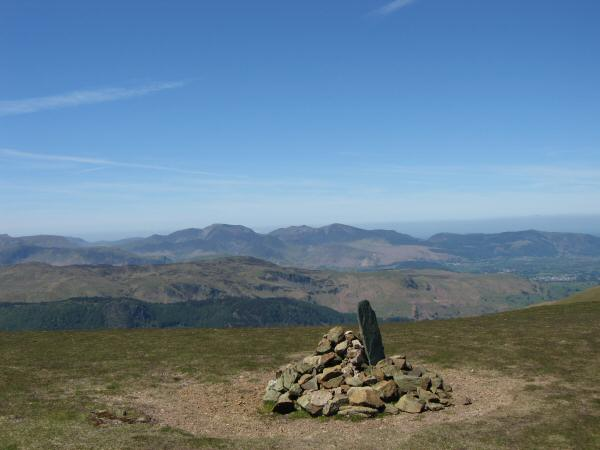 The north western fells from Stybarrow Dodd's summit