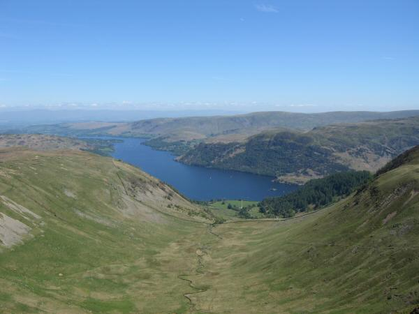 Glencoyne and Ullswater from Glencoyne Head