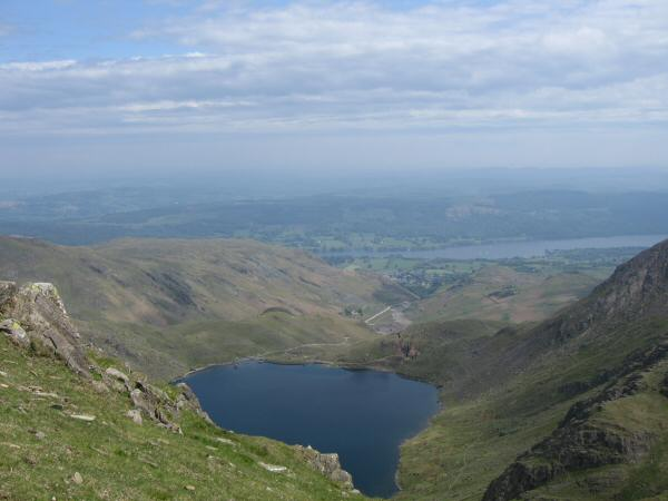 Levers Water with Coniston Water beyond