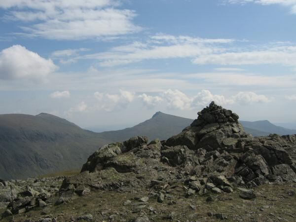 Coniston Old Man and Dow Crag from Grey Friar's summit