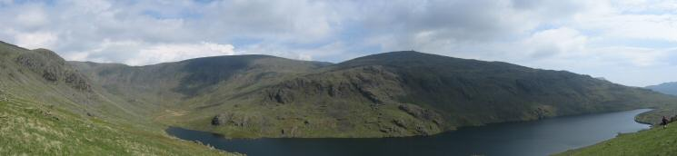 Seathwaite Tarn panorama