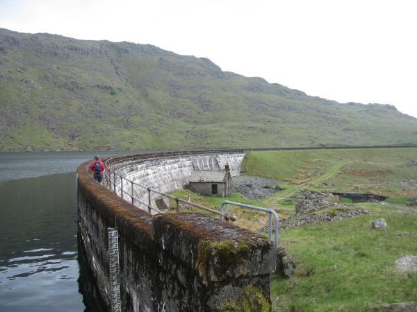Seathwaite Tarn's dam