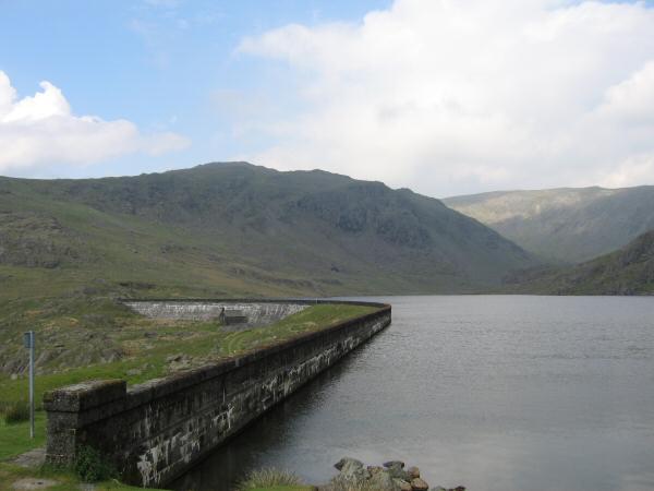 Grey Friar from Seathwaite Tarn's dam