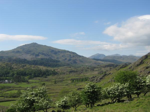 Harter Fell (Eskdale) and the Scafells in the distance
