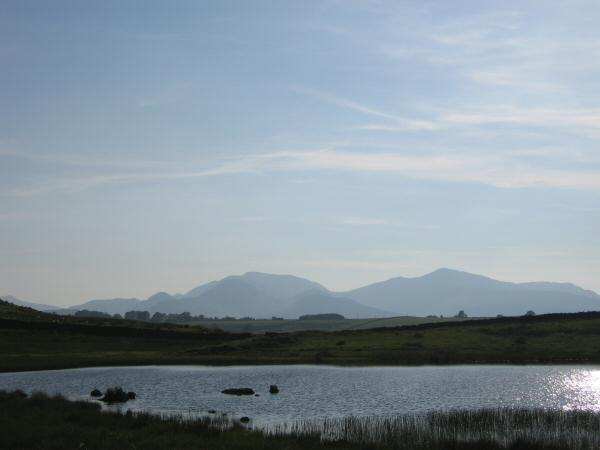 Looking over Tewet Tarn to the north western fells