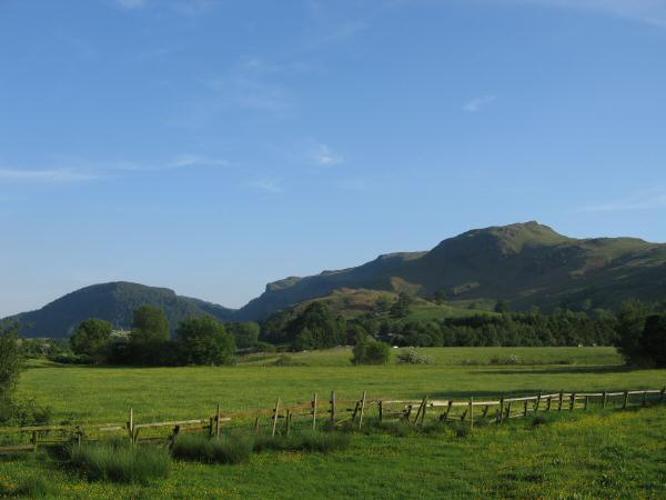 The Benn, Iron Crag and Dodd Crag from Dale Bottom