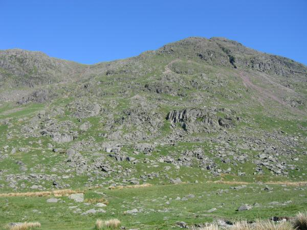 Red Screes from outside the Kirkstone Pass Inn