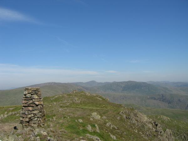 Looking towards Helvellyn from Red Screes' summit