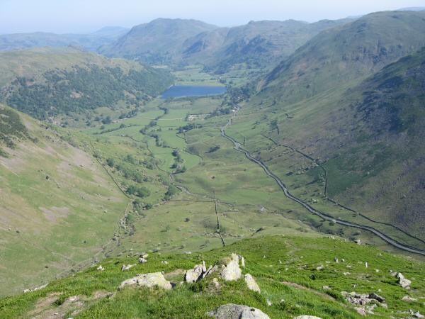 Brothers Water with Place Fell and Angletarn Pikes behind from Middle Dodd