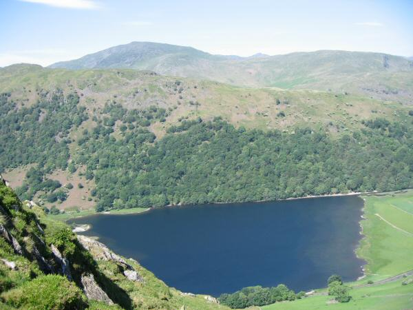 Looking down on Brothers Water from our ascent of Hartsop Dodd