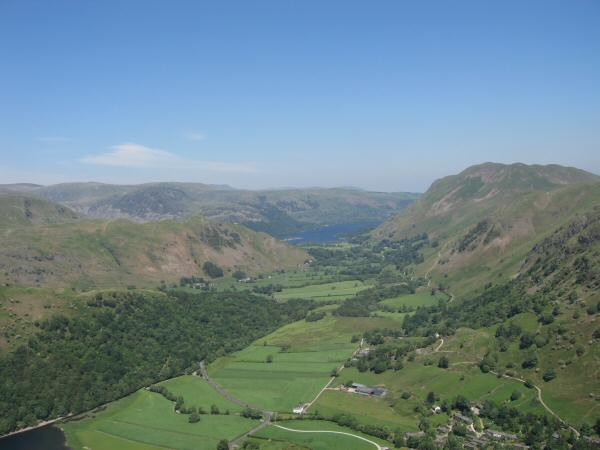 The view north with a glimpse of Ullswater from Hartsop Dodd