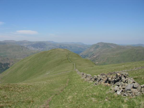 Looking back to Hartsop Dodd from our route to Stony Cove Pike