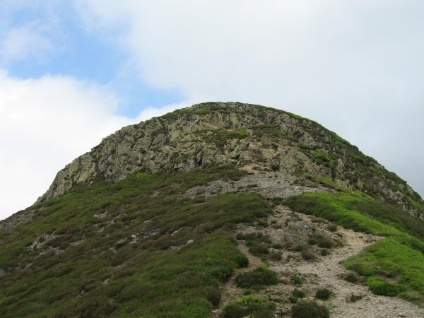 The top part of Causey Pike's east ridge