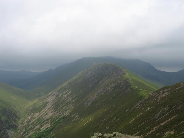 Scar Crags from Causey Pike's summit