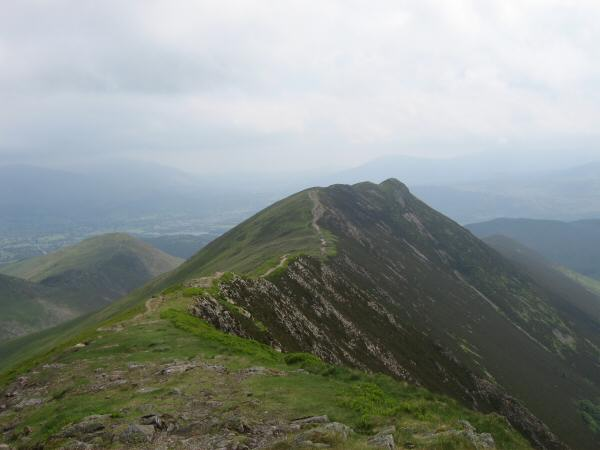 Looking back to Causey Pike from Scar Crags