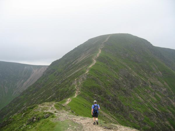 'The Scar' leading on to Crag Hill