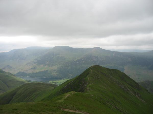 Whiteless Pike with High Stile and Red Pike (Buttermere) behind
