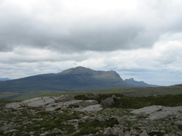 Cul Mor with Stac Pollaidh in the distance (right)