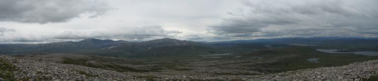 Easterly panorama from Canisp's south east ridge