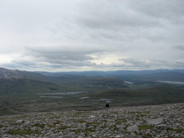 Ascending Canisp's south east ridge