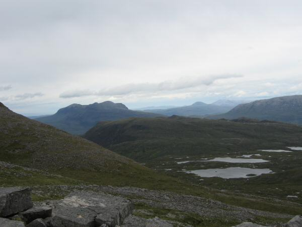 Looking north to Quinag (left of centre)