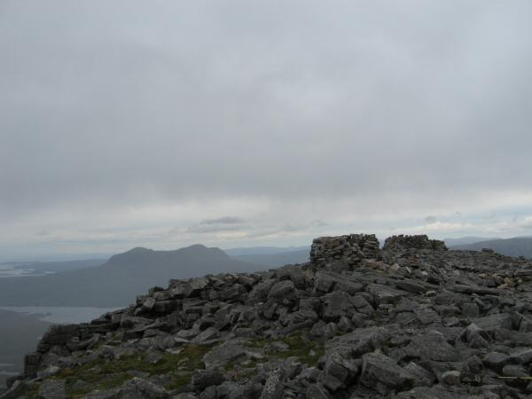Canisp's summit as the weather closes in
