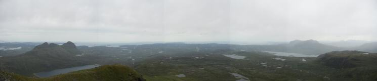 Westerly panorama from Canisp's summit