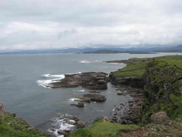 Looking back along the sea cliffs