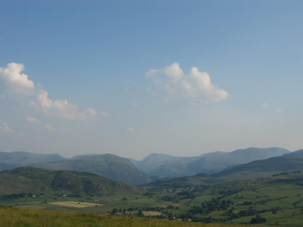 Looking south to Place Fell and Red Screes