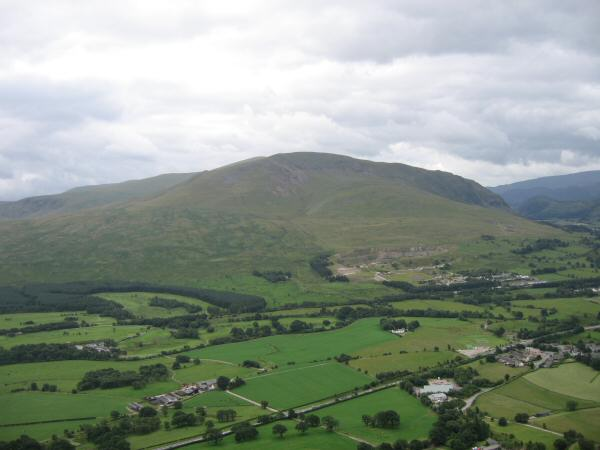 Clough Head from the lower slopes of Hall's Fell Ridge