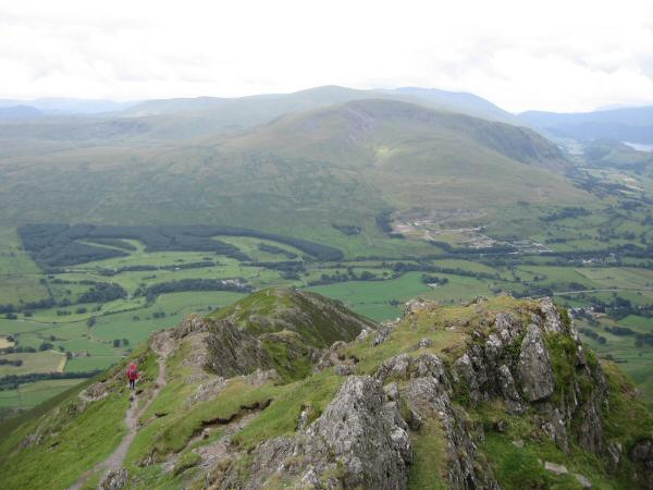 The view south to the Dodds from Hall's Fell Ridge