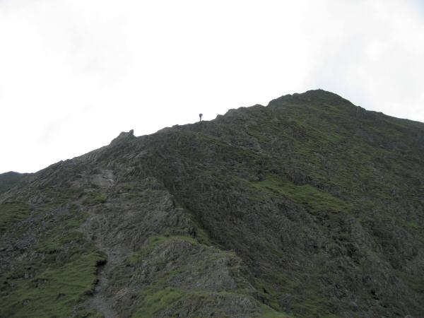 Looking up Hall's Fell Ridge to Blencathra's summit