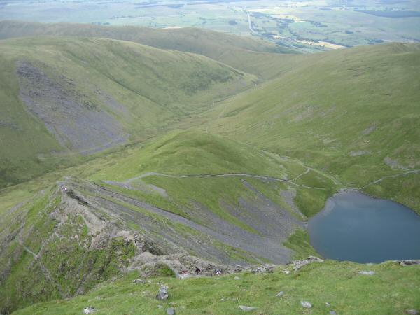 Looking down on Sharp Edge and ScalesTarn