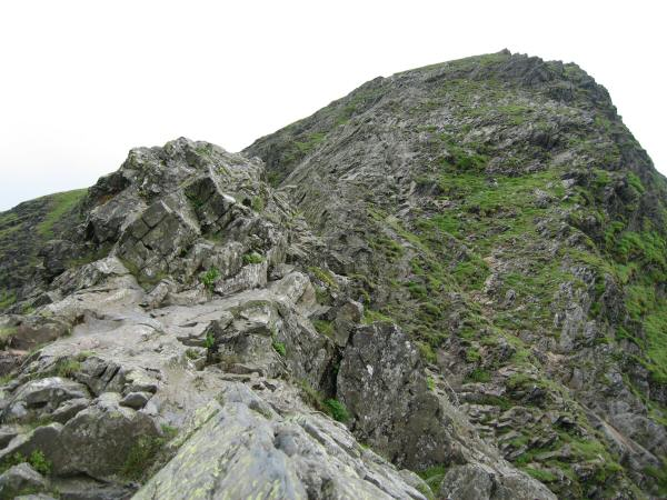 Looking back up Sharp Edge towards Foule Crag