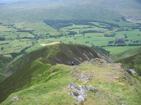 Looking down Doddick Fell