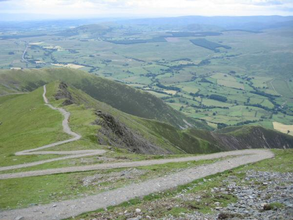 The zig-zags at the top of Scales Fell
