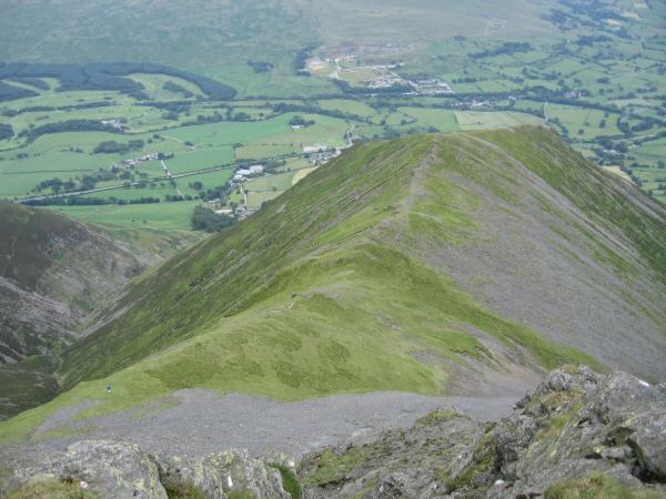 Looking down on Gategill Fell