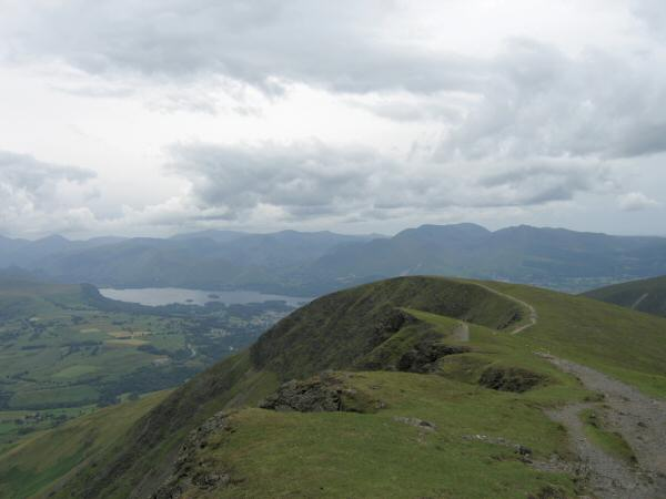 Knowe Crags from Gategill Fell Top