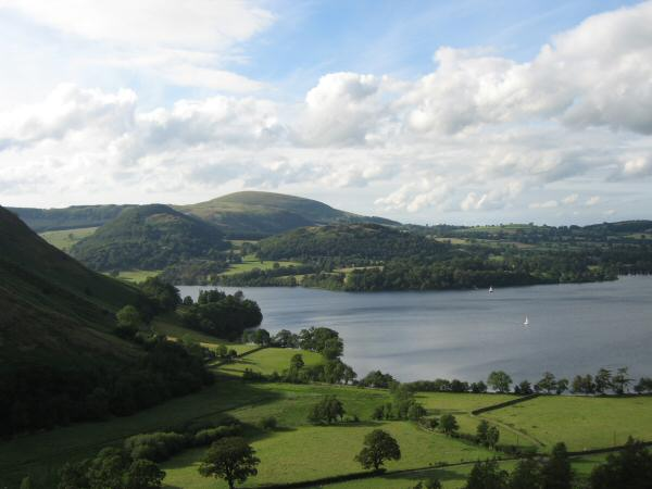 Looking across Ullswater to Little Mell Fell