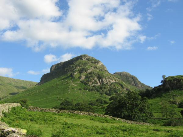Eagle Crag with Sergeant's Crag behind right