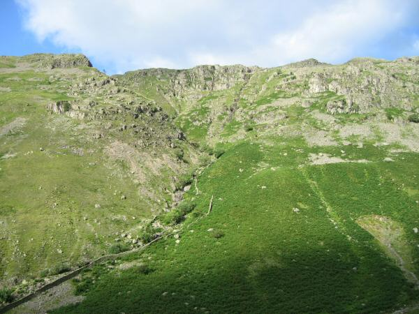 Looking across to the fell side on the other side of Greenup Gill as we started ascending Eagle Crag
