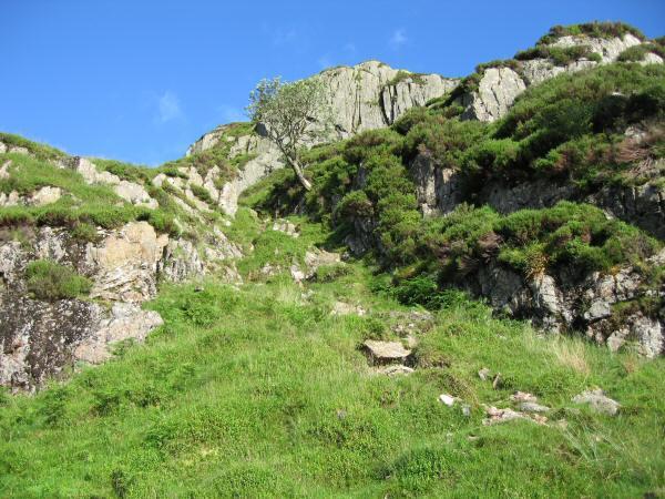 The way ahead, a short gully