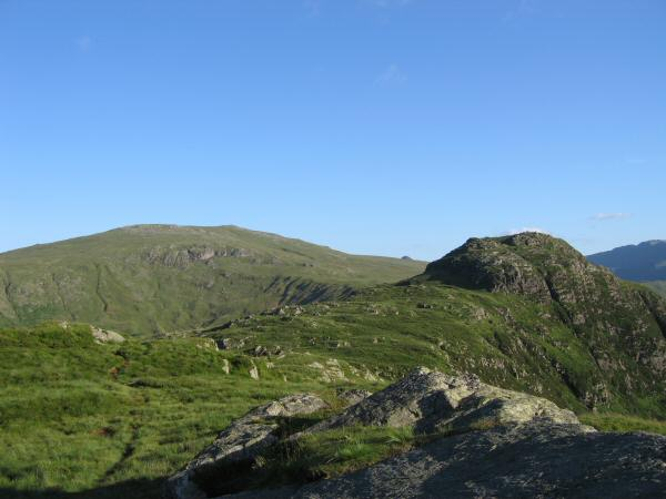 High Raise and Sergreant's Crag with the top of Pike o' Stickle visible in between