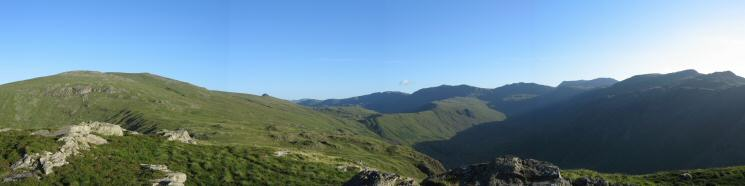 High Raise to Combe Head from Sergeant's Crag's summit