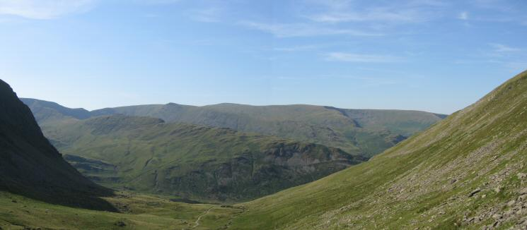 Rough Crag with Kidsty Pike and High Raise on the skyline from the Gatescarth Pass track