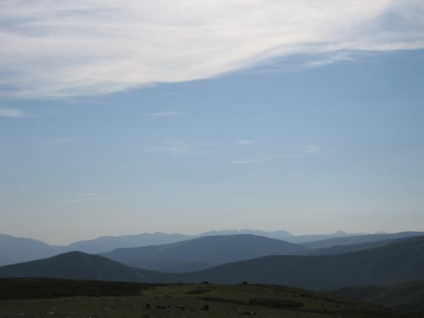 The view west from Harter Fell's summit