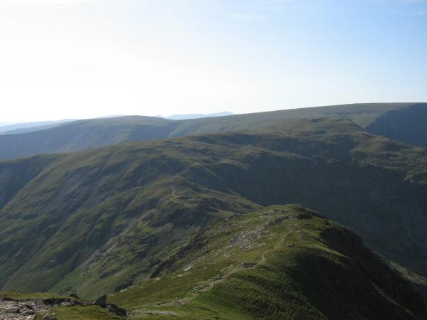 The ridge to Nan Bield Pass from Harter Fell
